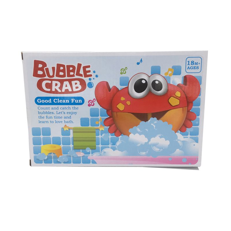 Dropshipping Bubble Crabs Music Kids Pool Swimming Bathtub Soap Machine Automatic Bubble Maker Baby Frog Bath Toy for Children