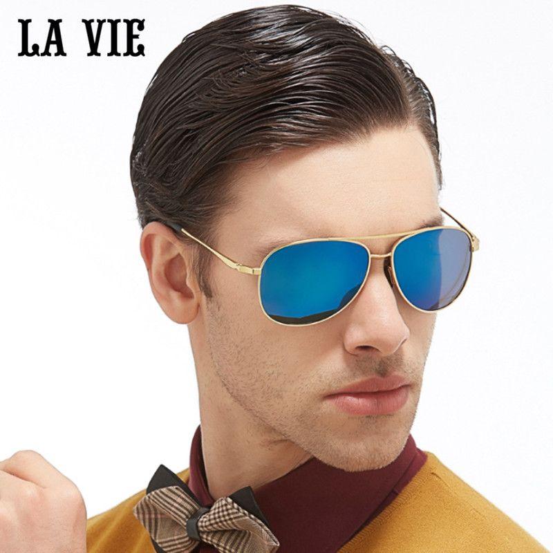 LA VIE Polarized Classic Pilot Design Fashion Men Sunglasses Coating Lens Male Sun Glasses gift Oculos De Sol Gafas LVA301-1