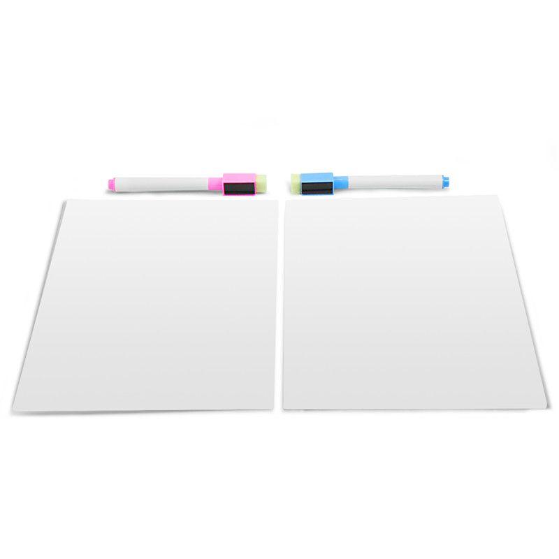 Tableau blanc tableau blanc magnétique tableau frigo tableau message 2 pièces ensemble (2 marqueurs normaux en cadeau)