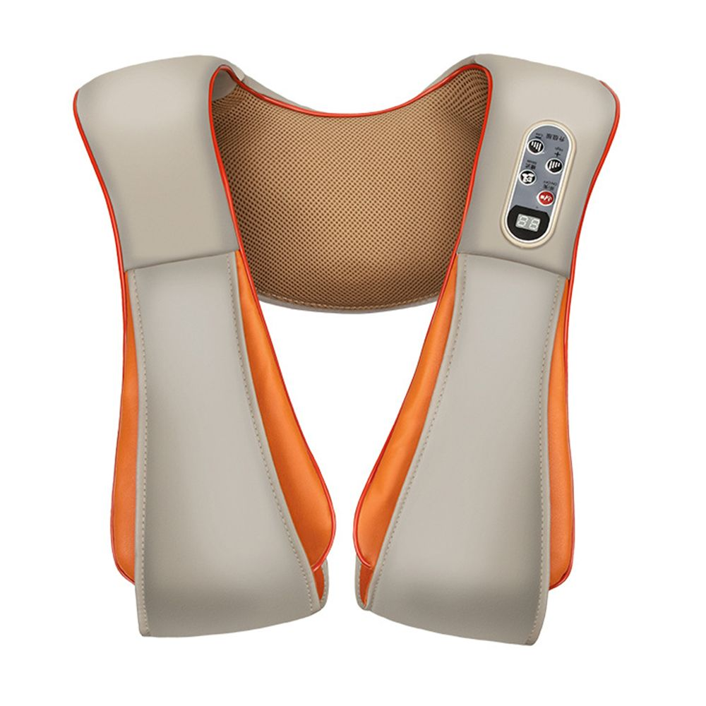 Electric Back Shoulder Neck Cervical Massage Shawls Device Body Heating Massager Home (EU Plug)