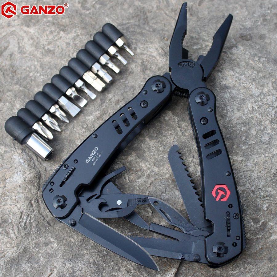 Ganzo pince Multi outil G301 G301B Ganzo pièces de rechange multifonctionnel pince pliante EDC outils Multi survie couteau ciseaux scie