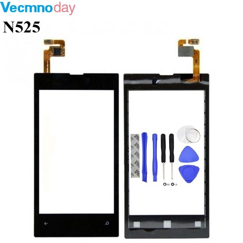 Vecmnoday Original High Quality 4.0'' For Nokia Lumia 525 520 N525 Touch Screen Digitizer Sensor Front Glass Lens panel + tools