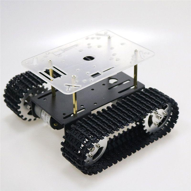 Smart Roboter Panzer Chassis Verfolgt Auto Plattform mit 33GB-520 Motor für Arduino DIY Roboter Spielzeug Teil mini T101 Neue Ankunft 2018