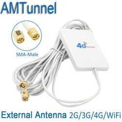 4 gantenna 3g 4g modem antenne 4g Externe Panneau Antenne avec SMA mâle et 3 m câble pour Huawei 3g 4g LTE Routeur Modem