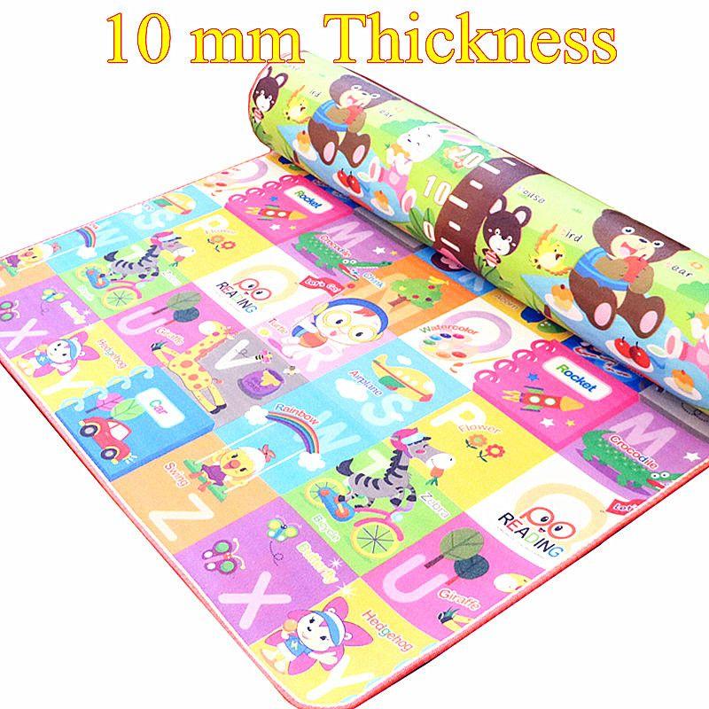 10 mm Thick Double Sides Children Play Mat Waterproof Kids Beach Picnic Mat Soft Eva Foam Carpet Rug Baby Crawling Mat Baby Gift