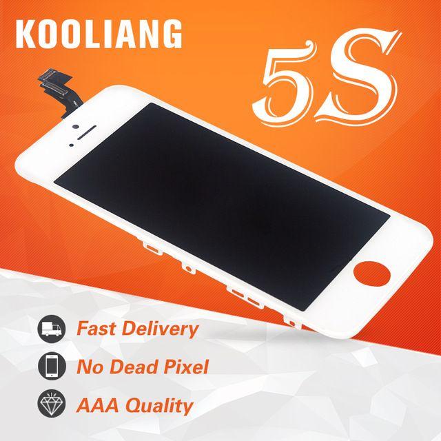 Écran tactile de qualité supérieure de l'entrepôt russe AAA pour le numériseur d'affichage à cristaux liquides de l'iphone 5 5 s 5c