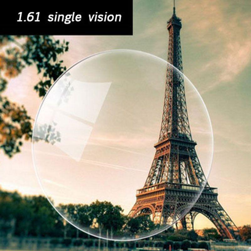 Optique Prescription 1.61 Vision Unique Asphérique HC TCM UV De Résine de Prescription pour la Myopie Presbytie Astigmatisme