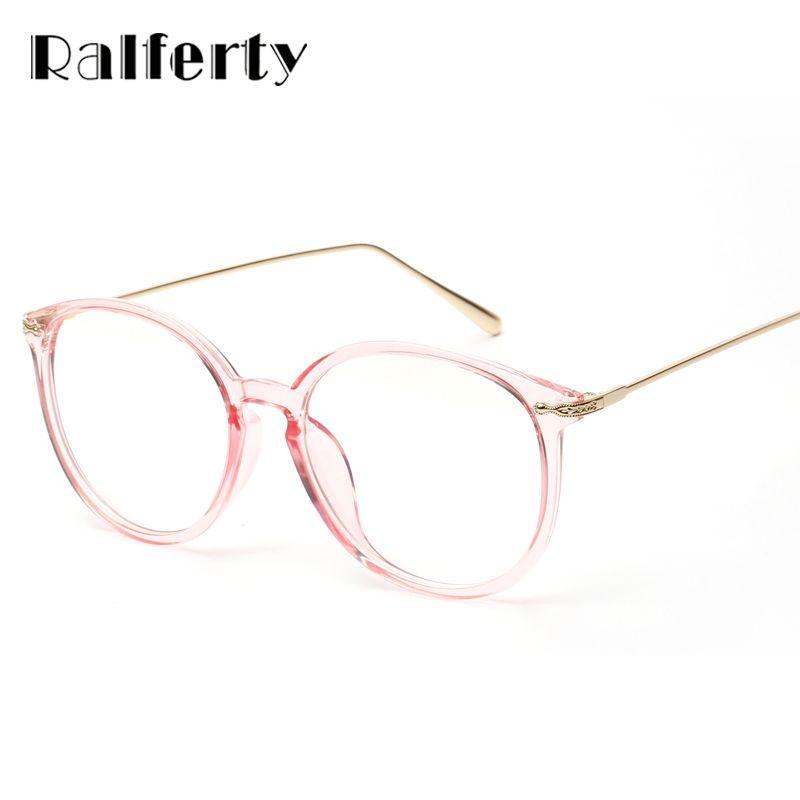Ralferty Transparent lunettes cadre avec lentille claire surdimensionné ovale lunettes femmes or myopie optique montures lunettes 3206