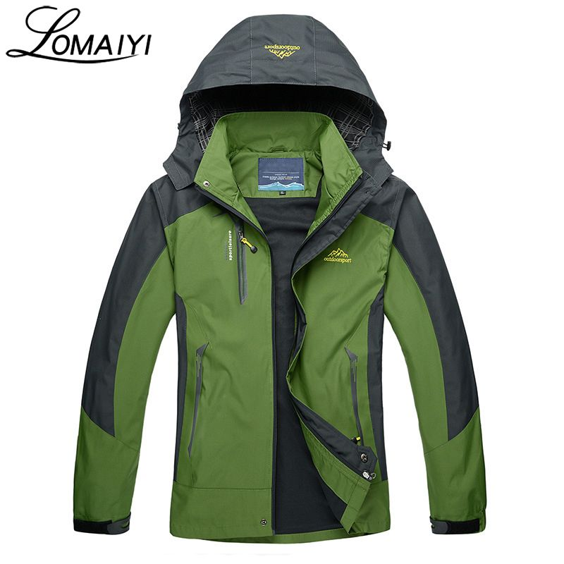 LOMAIYI Windproof Waterproof Men's Jackets Coat Men Spring Autumn Winter Warm Windbreaker Male Casual Hooded Jacket,AM163