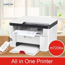 Wireless Laser Mesin Copy Kantor Pemindaian Rumah Triple Bisnis Multi-Fungsi M7206W Printer 600*600 Dpi