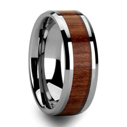 Hommes 8mm Vintage Koa bois carbure de tungstène anneau éternité mariage bande déclaration bijoux taille 6-13