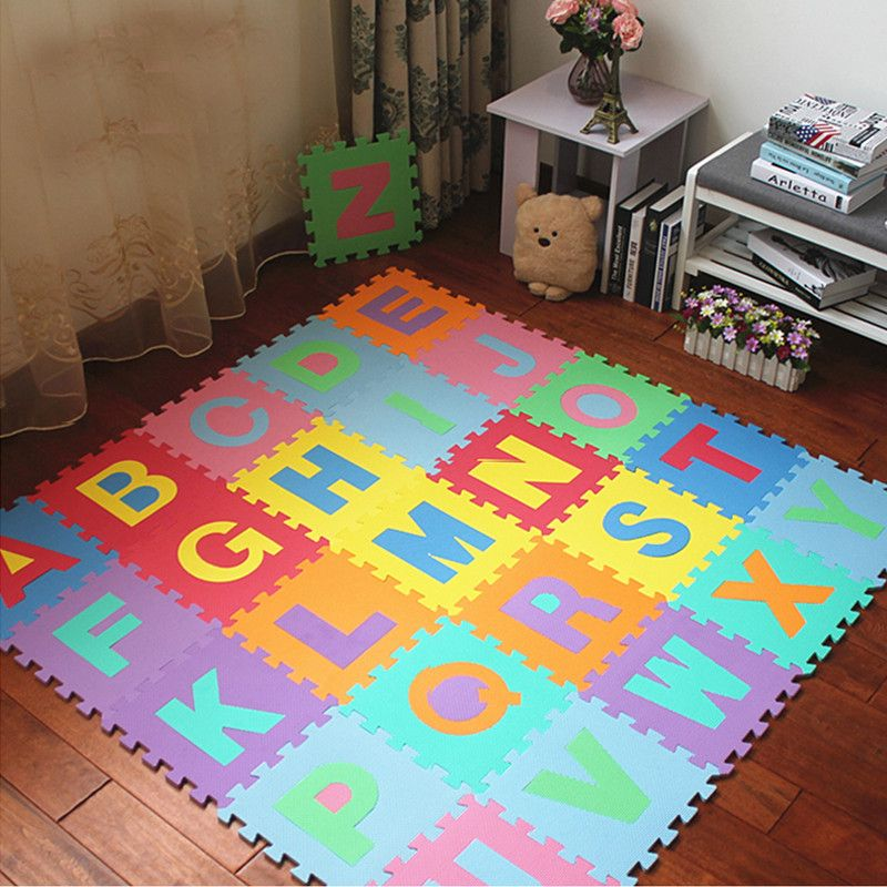 High quality Eco-friendly Number/Alphabet Letters ABC Puzzle Crawling Foam mat for kids games Safety Floor Rugs