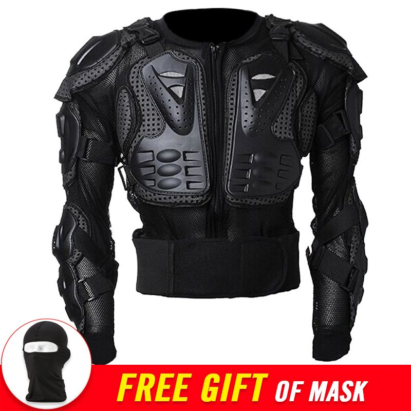 New Motorcycle Jacket Moto <font><b>Body</b></font> Armor Protection Motorcycle Armor Back Protector Motocross Off-Road Spine Chest Brace Gear Guard