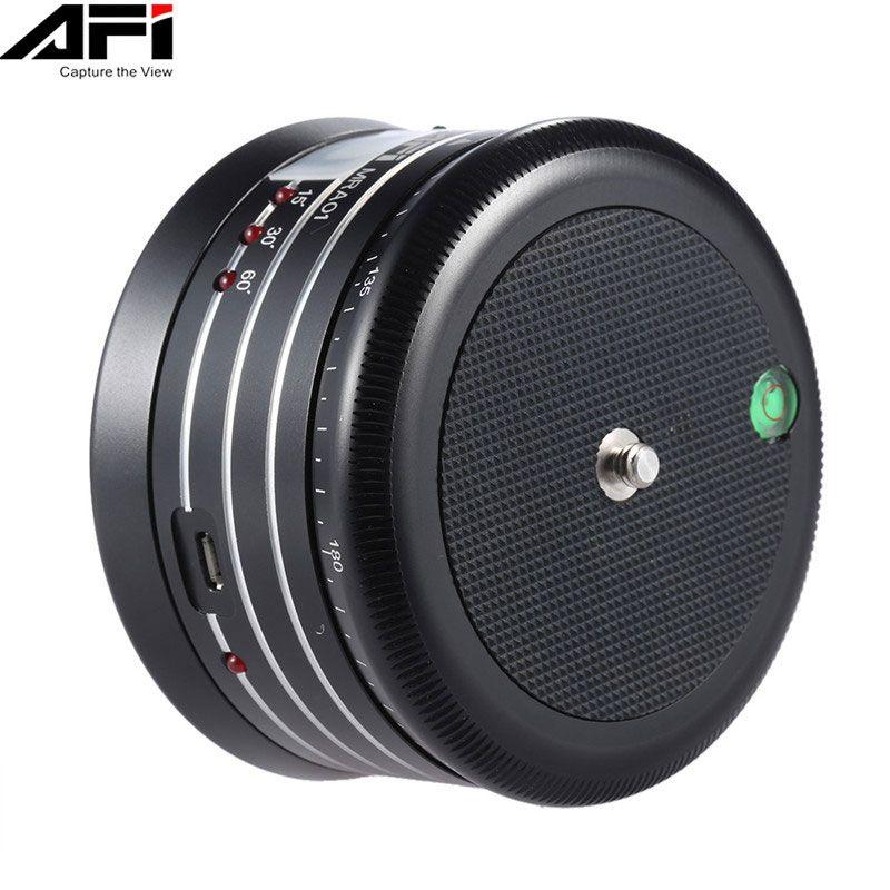 AFI MRA01 Mini Panorama électrique 360 temps de Rotation Lapse trépied rotule pour téléphone GoPro Action caméra Selfie bâton panoramique