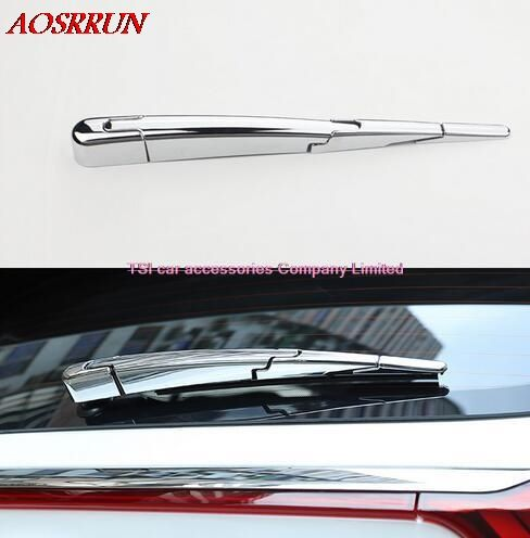 4pcs ABS Chrome Plated Rear Wiper Cover car-styling car Window Wiper Decoration Sequins For KIA Sportage 2016 2017 car-styling