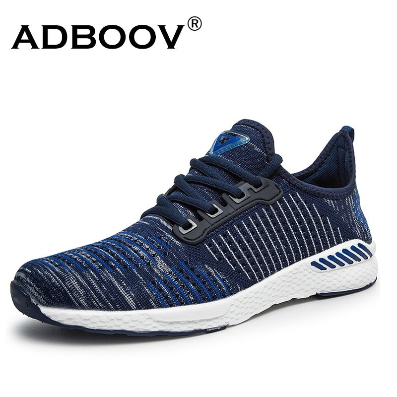Men's Lightweight shoes Breathable Comfortable man casual shoes Knitted material plus large size US 11 12 Euro 45 46 sneakers