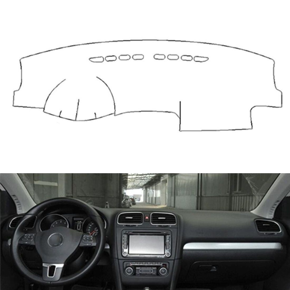 Dongzhen Fit For VW Golf 6 GIT 2010-2013 Auto Car Dashboard Cover Avoid Light Pad Instrument Platform Dash Board Cover Mat