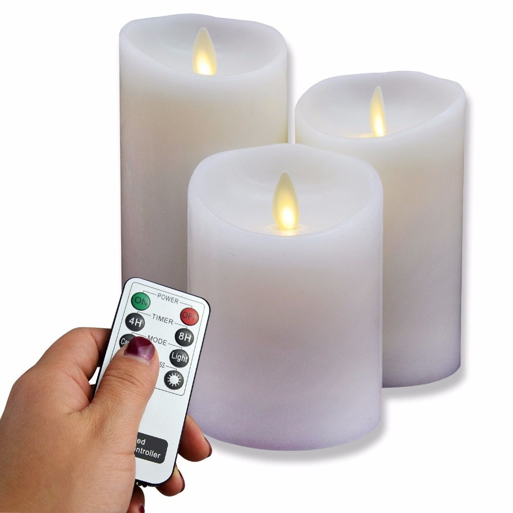 Dancing LED Candle Real Wax & Real Flickering Candle Motion Candle In 3''*4''/5''/6'' Set