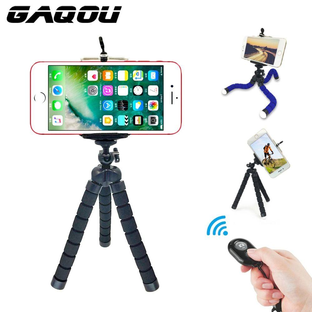 GAQOU 3 dans 1 Avec Télécommande Mini Flexible Mont Titulaire Caméra Téléphone Octopus Trépied Support Support à Mont Pour gopro