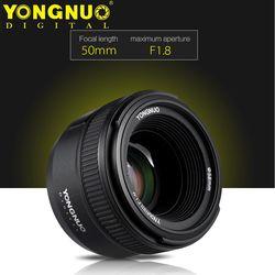 YONGNUO YN50mm F1.8 enfoque automático de gran apertura para Nikon D800 D300 D700 D3200 D3300 D5100 D5200 D5300 DSLR Cámara lente