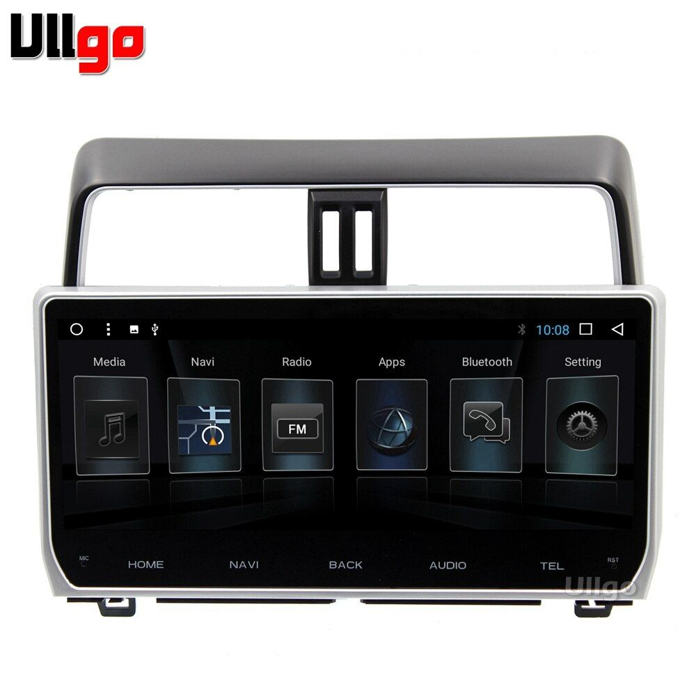 12.3 inch Octa Core Android 7.1 Car DVD GPS for Toyota Prado 2018 Autoradio GPS Car Head Unit with BT RDS WIFI Mirror-Link