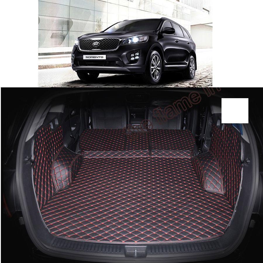 Lsrtw2017 tapis de coffre de voiture en cuir fibre pour kia sorento 2015 2016 2017 2018 2019 Kia Sorento Prime 5 7 places