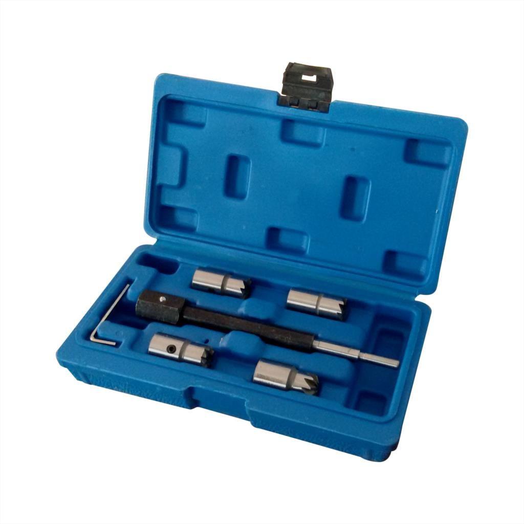 Trousse à outils de retrait de décapant de siège d'injecteur Diesel de 5 pièces pour Delphi Bosch BMW Merc CRD PSA Ford Fiat Peugeot SK1083