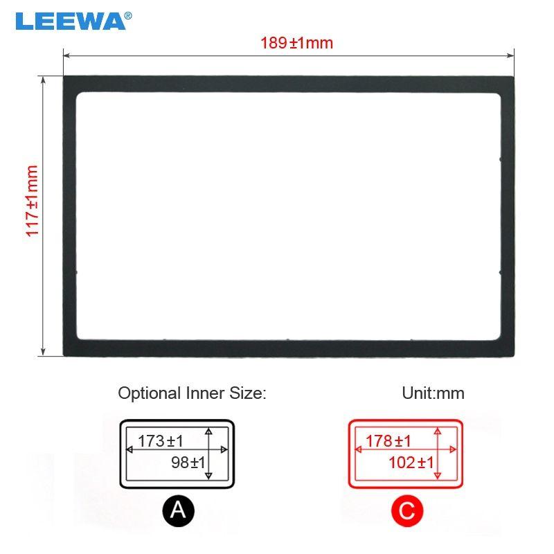 LEEWA Car Radio Stereo Fascia Panel Frame Adapter Fitting Kit For Volkswagen Passat(B5)/Jetta/Bora/Golf4/Polo/Lupo #CA4405