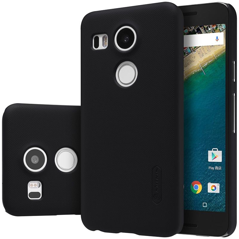 For LG Nexus 5X cover case Original Nillkin Super Frosted Shield case for LG nexus5 X 2015 with screen protector
