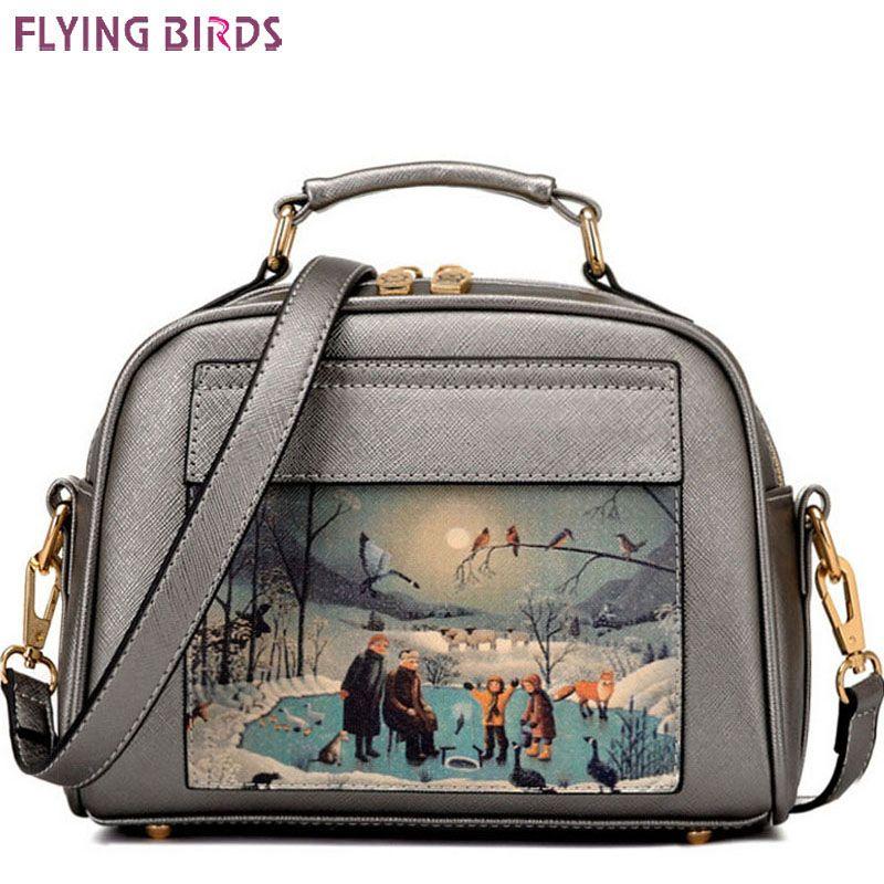 Flying birds! women leather handbag famous brands women messenger bags women's bag pouch bolsos high quality female bag LS8235fb