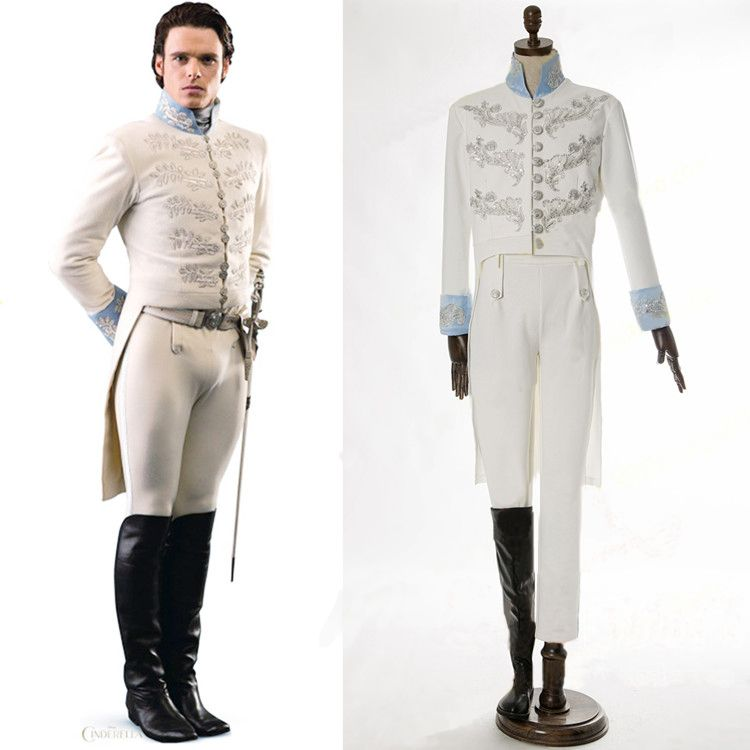 Cinderella costume party adult Prince charming cosplay costume halloween costumes Embroidery jacket suit party carnival costume