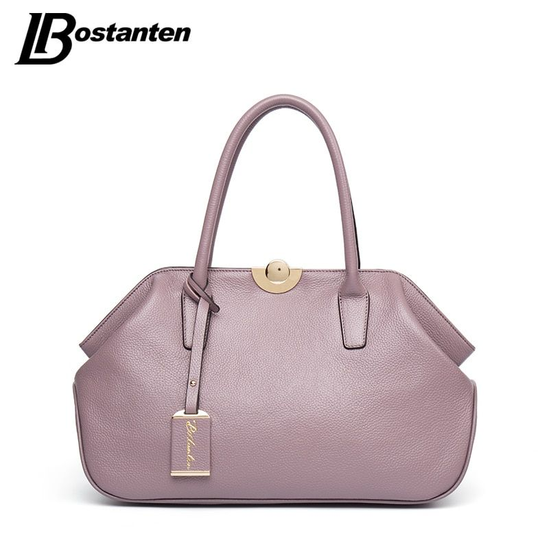 BOSTANTEN Designer Genuine Leather Bags Ladies Famous Brand Women Handbags High Quality Tote Bag for Women Fashion Hobos Bolsos