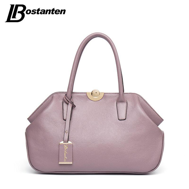 BOSTANTEN Designer Genuine Leather Bags Ladies Famous Brand Women Handbags High Quality Tote Bag for Women Fashion Hobos Bolsos