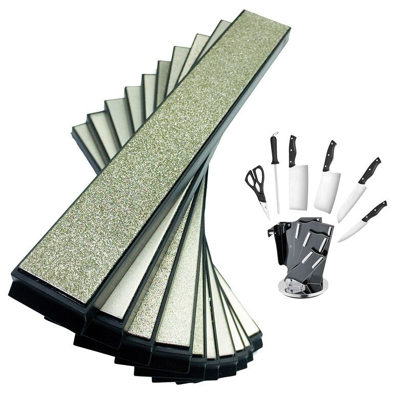 7 pieces Kitchen Knife Portable Apex Pro pencil sharpener diamond whetstone Grinding whetstone Hone <font><b>stone</b></font> 80-2000Grit