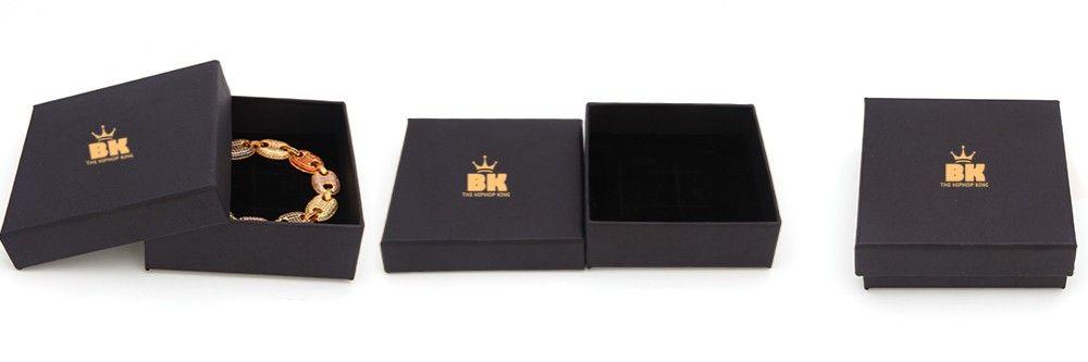 Hip Hop couleur or chaîne cubaine or argent collier et Bracelet ensemble combinaison de luxe gratuit de montre et collier ensemble
