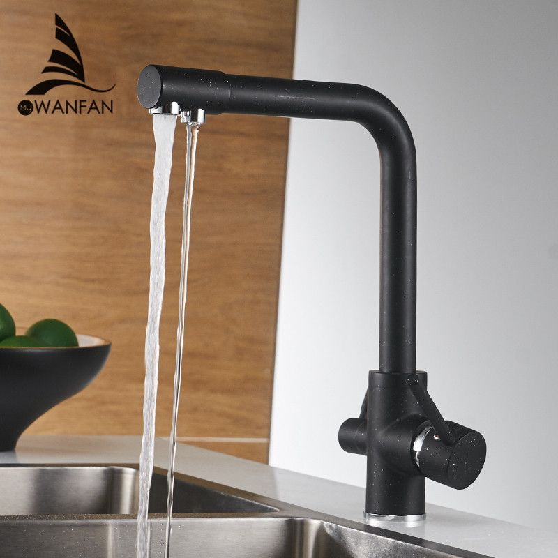 Kitchen Faucets Deck Mounted Mixer Tap 360 Degree <font><b>Rotation</b></font> with Water Purification Features Mixer Tap Crane For Kitchen WF-0175