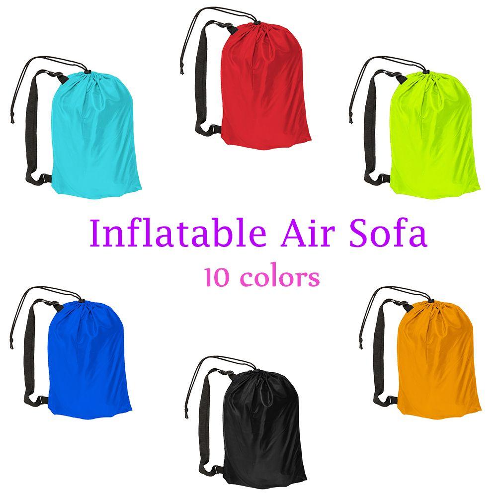 10 Farben Aufblasbaren Sofa Faul Tasche Liege Laybag Garten Strömten Camping Tragbare Kissen sofa Strand Bett Schlafsäcke