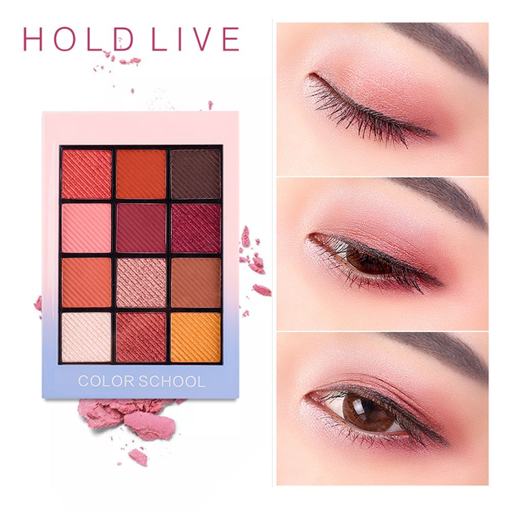 Tenir en direct 12 couleurs mat ombre à paupières Palette Pigment paillettes fard à paupières Palettes ombres nues cosmétiques coréen maquillage yeux