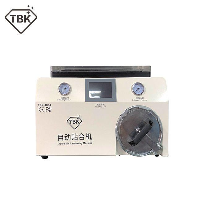 Neue version TBK-408A 15 zoll Handy LCD Laminator Maschine mit Transparente Abdeckung und Autoklav Blase Remover