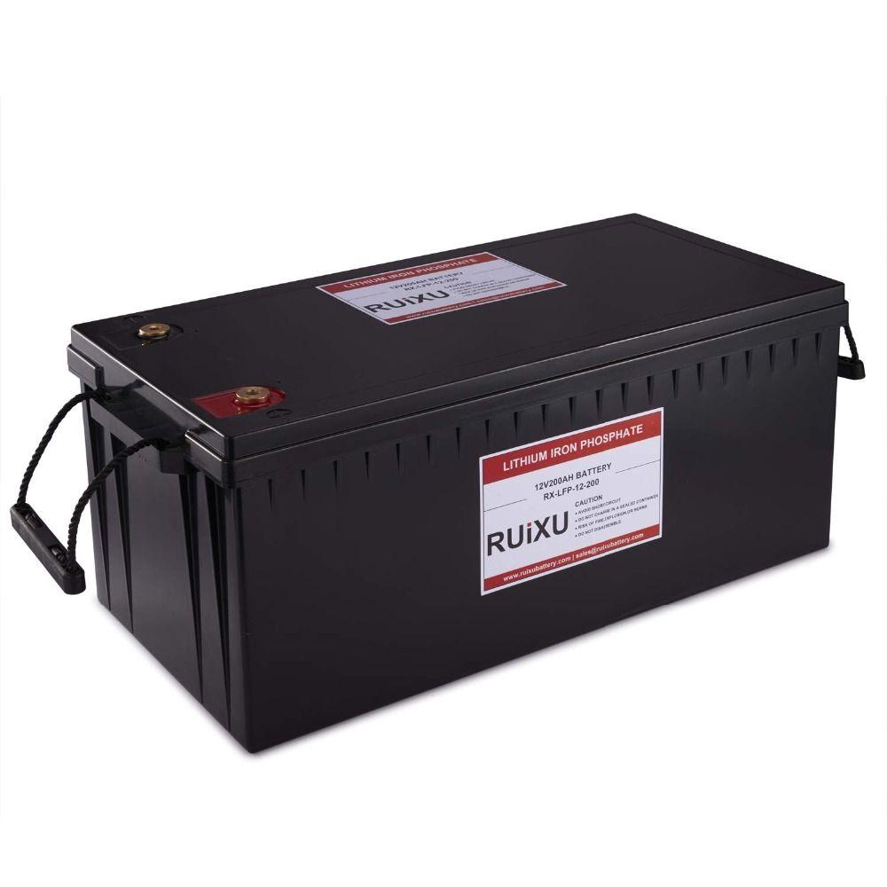 LiFePO4 12V 200Ah Lithium-Eisen Phosphat Batterie Pack LiFePO4 Komplette Batterie (BMS Enthalten), blei Säure Batterie Ersatz
