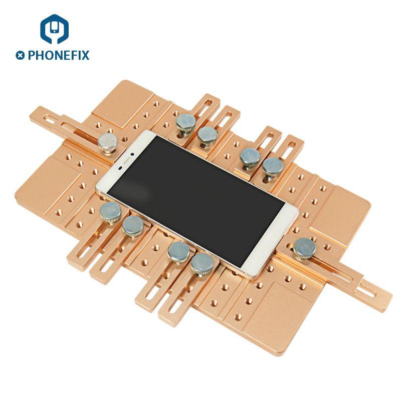 Universal Telefon LCD Screen OCA Laminieren Jig Halter Aluminium Legierung Positioning Clamp Form Für handy LCD Bildschirm Reparatur