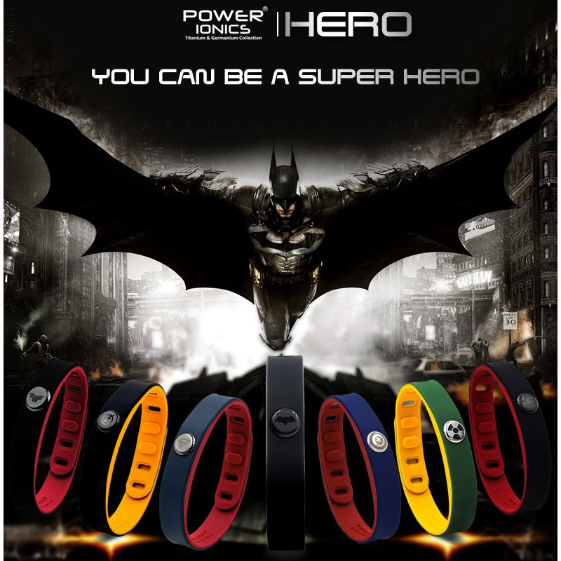 Hero Power Ionics 3000 ions IDEA BAND Sports Titanium Bracelet Wristband <font><b>Balance</b></font> Human Body