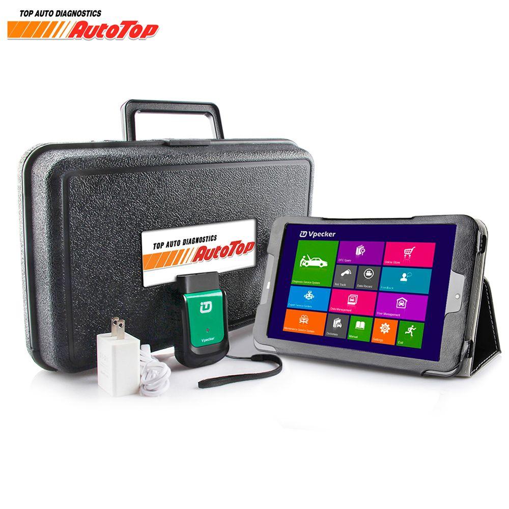 2018 vpecker EasyDiag OBD2 Wi-Fi/Bluetooth v10.2 OBD 2 Автомобильные сканер + 8 дюймов Оконные рамы 10 vpecker Планшеты odb 2 Автосканер