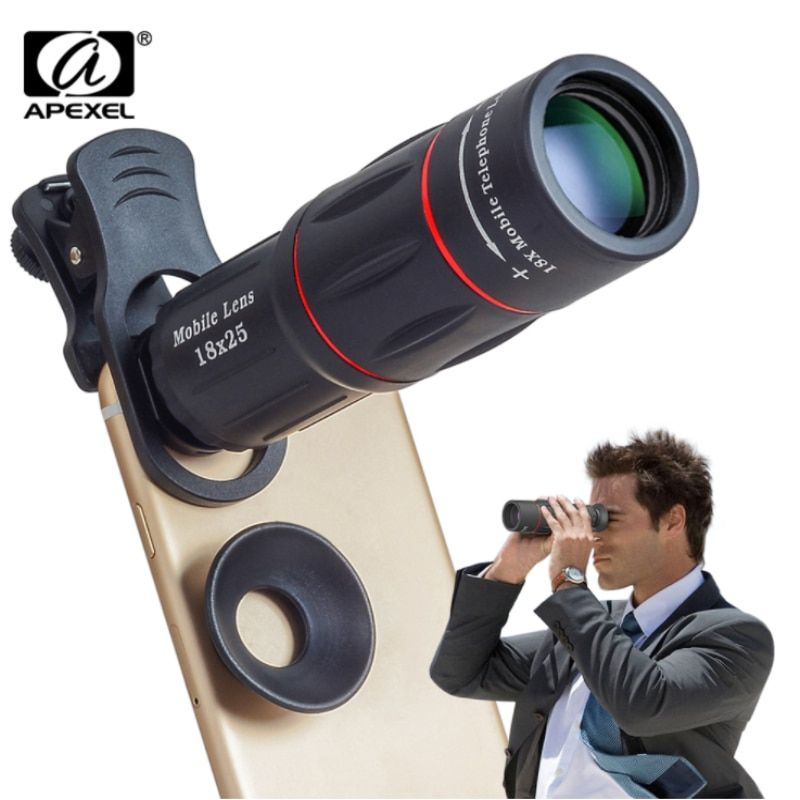 18X Telescope Zoom Mobile Phone Lens for iPhone Samsung Smartphones Universal Clip Telefon Camera Lens with Tripod 18 XTZJ