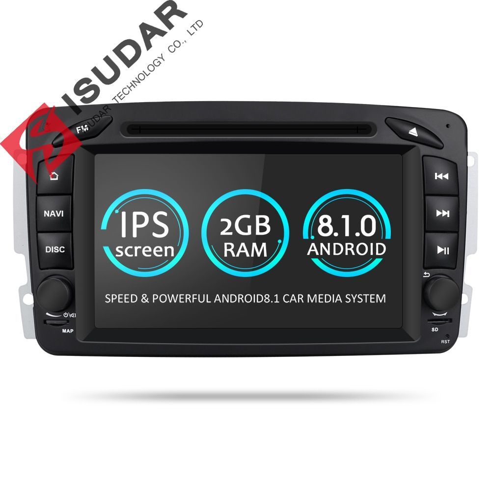 Isudar Car Multimedia Player Android 8.1.0 GPS 2 Din DVD Automotivo For Mercedes/Benz/W209/W203/M/ML/W163/Viano/W639/Vito Radio