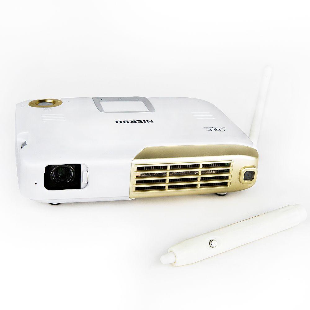 NIERBO 4 K Interactif Portable Projecteur Full 3D École Android Wifi Bureau L'éducation avec 15000 mah Batterie 500 ANSI Lumens