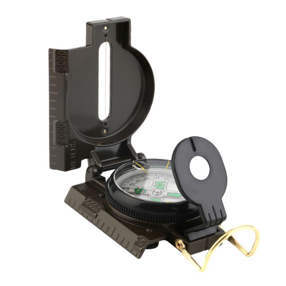 Heiße Verkauf Portable Faltung Objektiv Kompass Amerikanischen Militärische Multifunktions Neue NVIE kostenloser versand