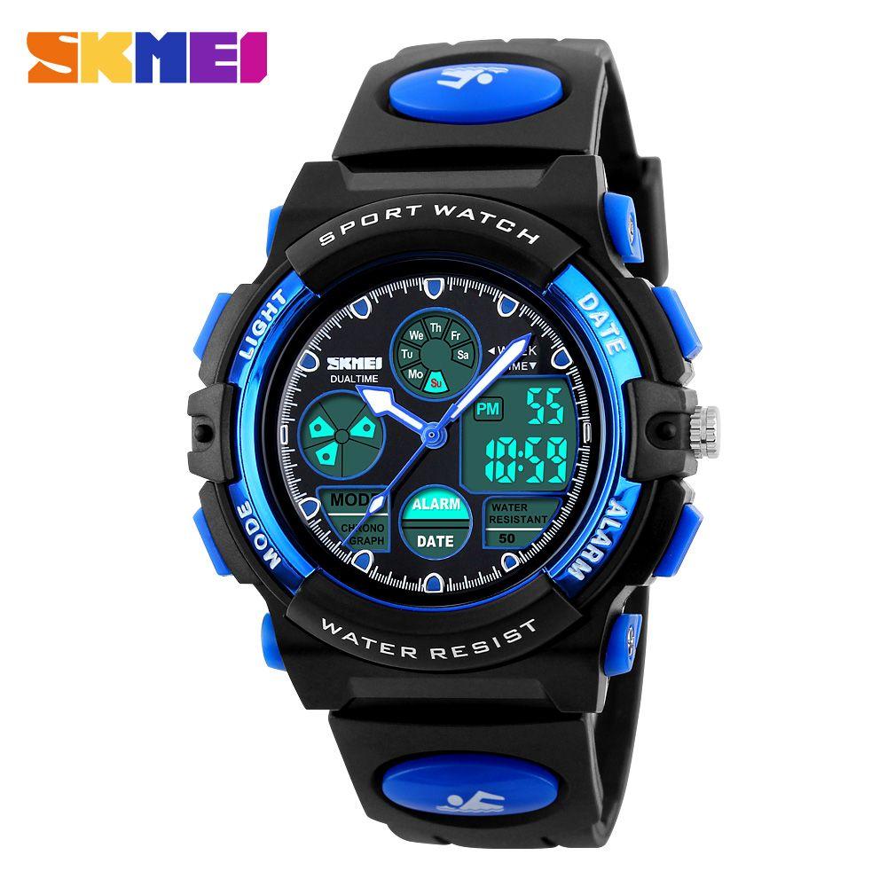 SKMEI Симпатичные Модные Детские часы LED Дисплей Винтажные часы Relogio кварц-часы электронные Наручные часы Дети Спортивные часы