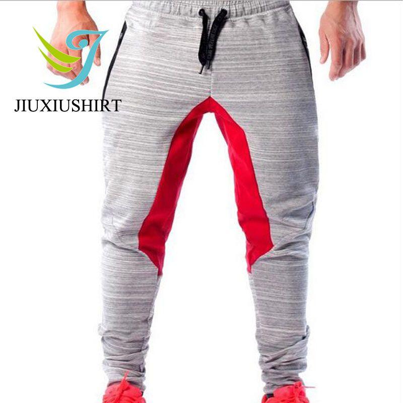 JINXIUSHIRT Running Pants Mens Sportwear Muscle Men Fitness Sport Elastic Breathable Training Basketball Trousers Plus Size