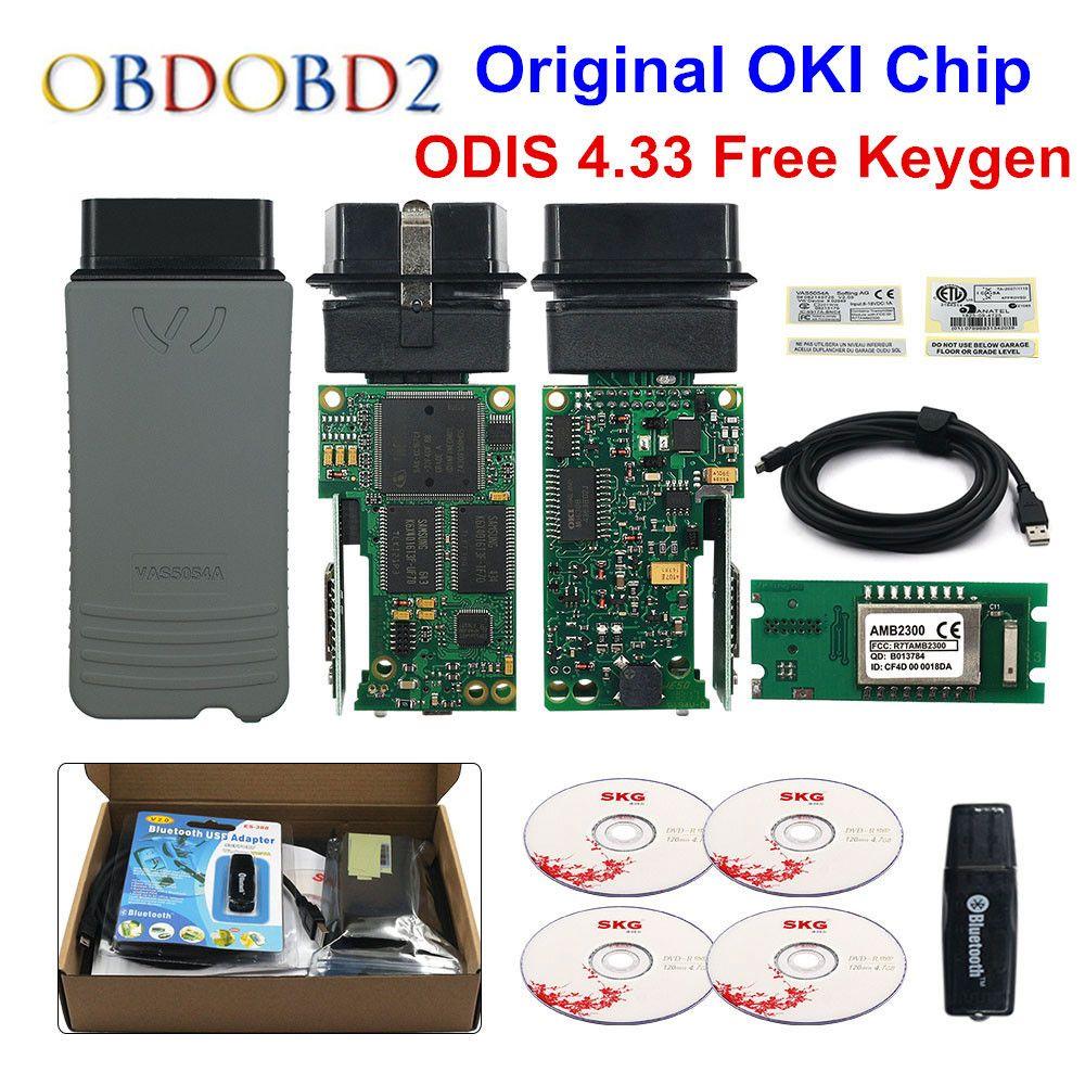 Original VAS5054 OKI Keygen VAS5054A Bluetooth AMB2300 ODIS V4.3.3 For VW/AUDI/SKODA/SEAT VAS 5054A VAS6154 WIFI UDS For VAG